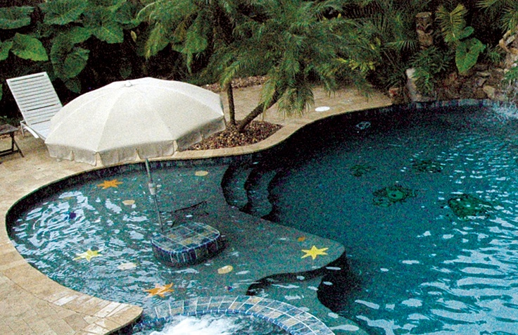 17 best images about pool designs floors on pinterest for Pool mosaic designs