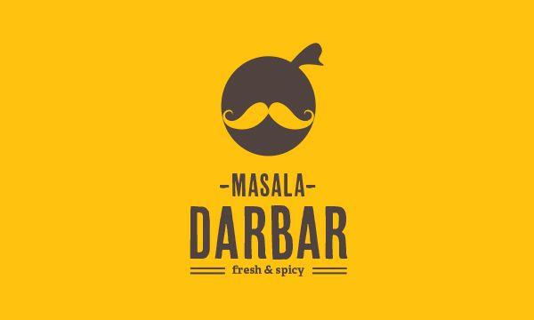 Masala Darbar, Indian Cafe & Restaurant - Logo Design by Jekin Gala