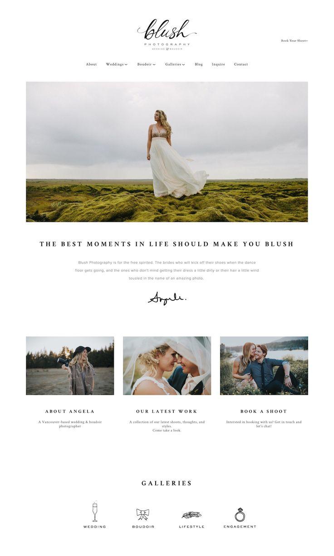 10 Squarespace example websites for inspiration • photographer edition — The Paige Studio • Squarespace Website Designer