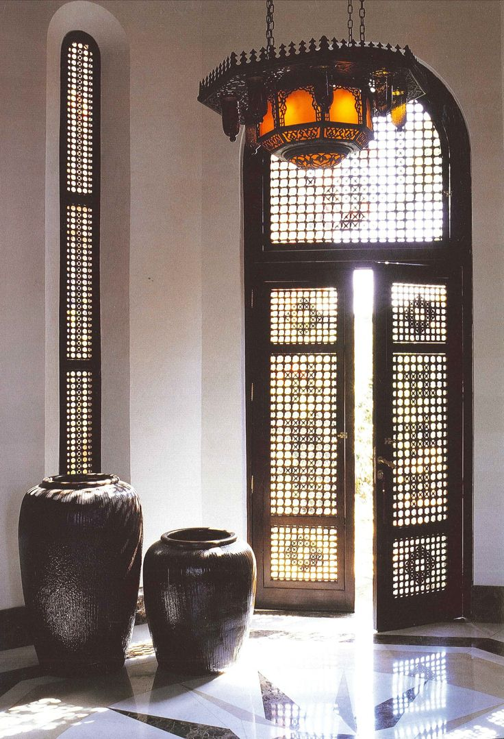 Moroccan doors reminiscing of the 1001 Arabian Nights… #Modern #MoroccanDecor…