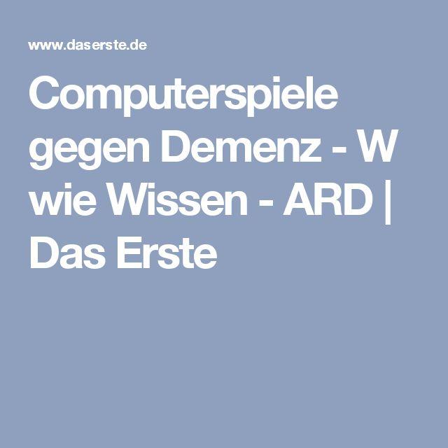 Computerspiele gegen Demenz - W wie Wissen - ARD | Das Erste