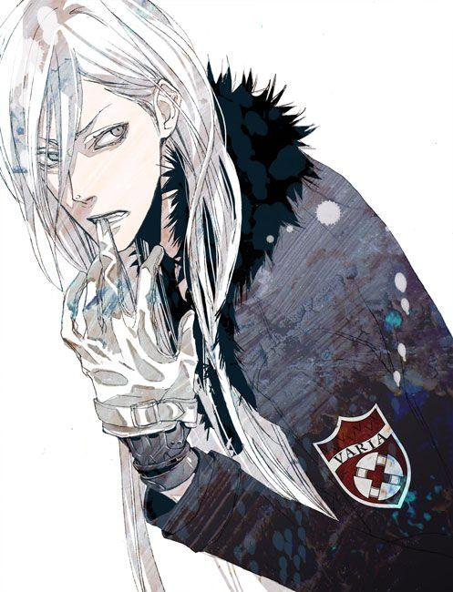 anime long white hair guy - google