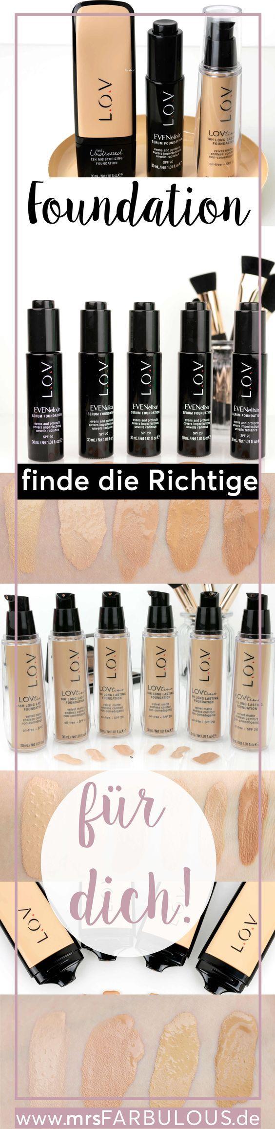 Grundierung von L.O.V Cosmetics für ein ebenmäßiges Gesicht. Finde die richtige Foundation fürd deinen Hauttyp. Gesicht schminken, trockene Haut, ölige Haut, Weihnachten, Silvester, Halloween Make-Up. Schminktipps, Beauty, Drogerie. Sieh dir die Foundation auf dem deutschen MrsFarbulus Beauty Blog für Schminktipps an.