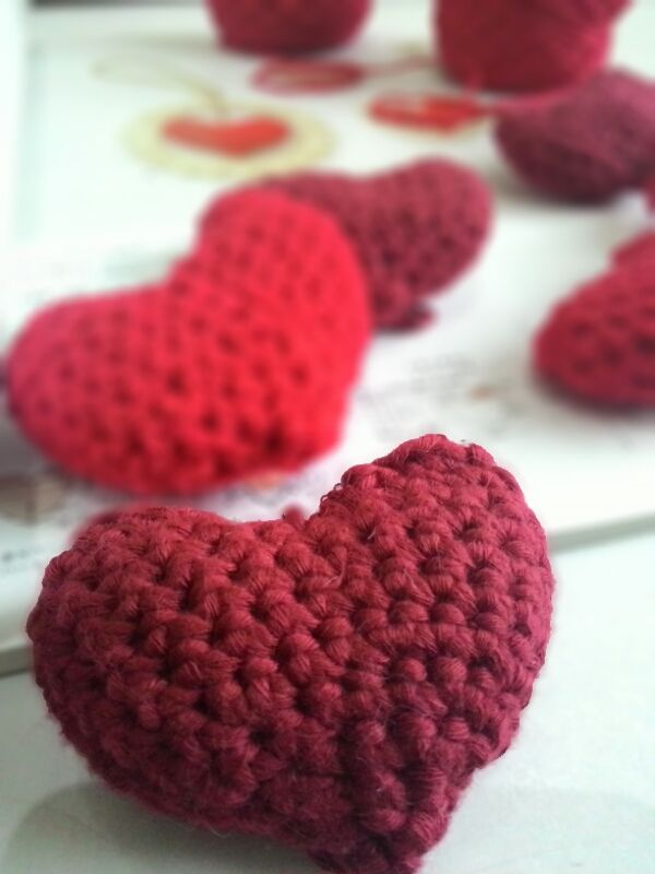 My valentine project : Heart keychain