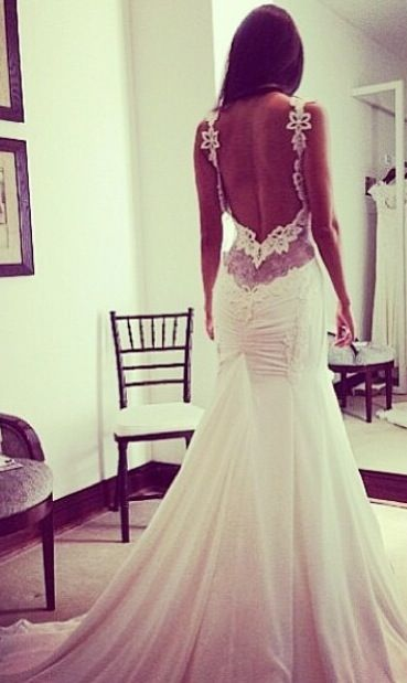 Bare Back Wedding dress is a must, unless it has one hell of a design.