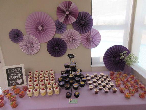 311 best papers art images on pinterest craft ideas paper flowers 40pc purple violet lavender rosette paper fans wedding pinwheel backdrop paper pinwheels candy buffet decoration paper mightylinksfo