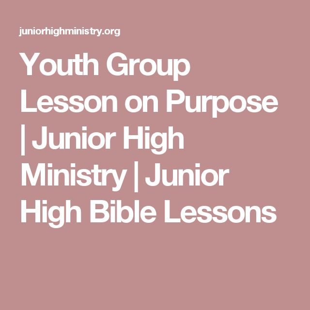 Youth Group Lesson on Purpose | Junior High Ministry | Junior High Bible Lessons