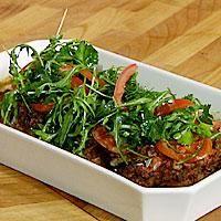 Auberginer med kjøttfyll -