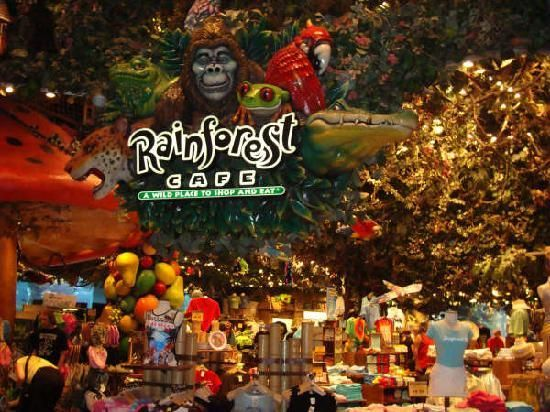 Rainforest Cafe @ MGM Grand  ~Our favorite Breakfast venue!  Never Miss it!  First time we visited this restaurant was next to the Animal Kingdom @ Disney World.  Food is just as good in Vegas!