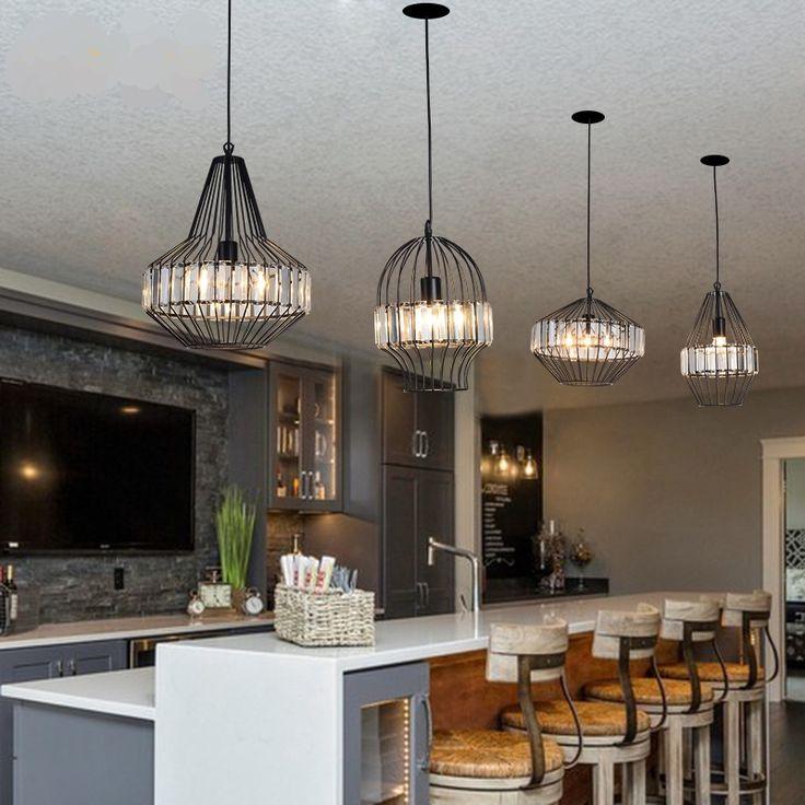 Творческий персонализированные хрустальной люстры современный минималистский спальне декоративная клетка Кафе Ресторан Nordic Light Hotel Освещение - Taobao