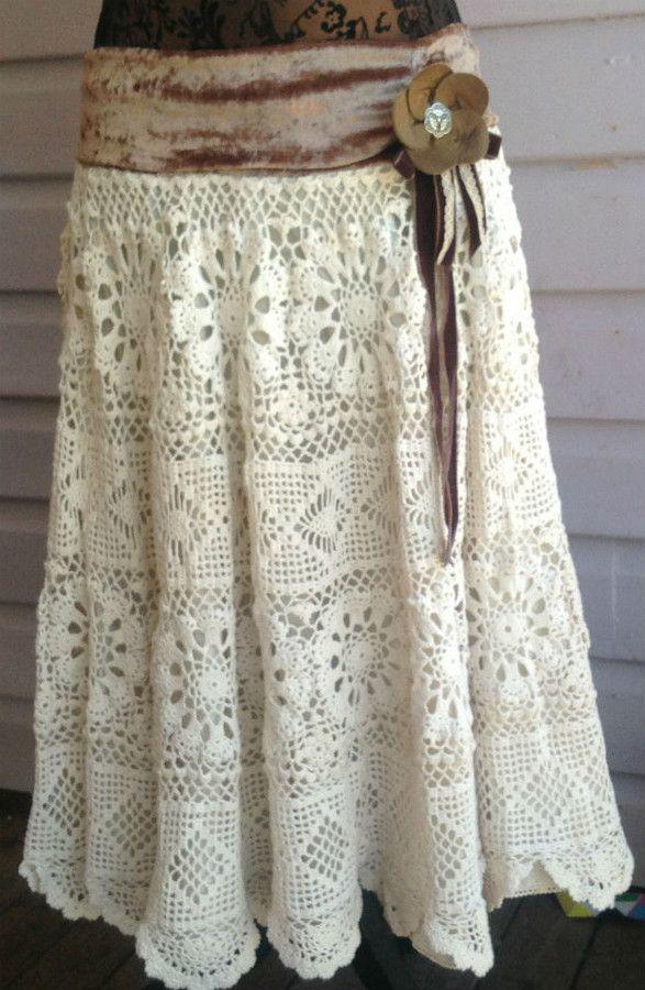 Vintage Lace Doilie Skirt