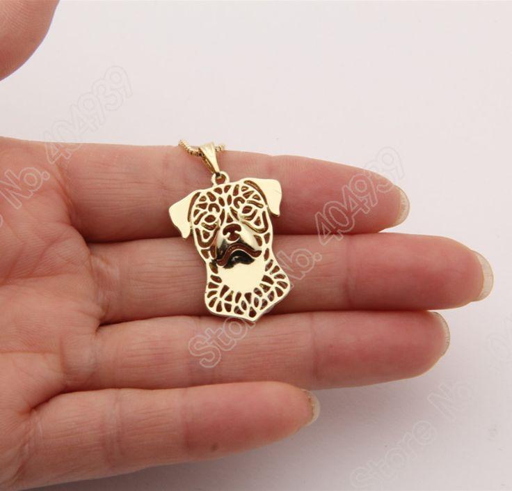 1 stks Rottweiler Ketting 3D Uitsnede Puppy Hond Minnaar Hanger Gedenkteken Kettingen Kerstcadeau 2021 Loodvrij