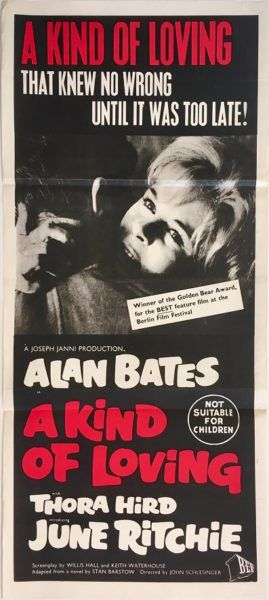A Kind Of Loving original 1962 Australian Daybill Movie Poster, Available for purchase from our website.