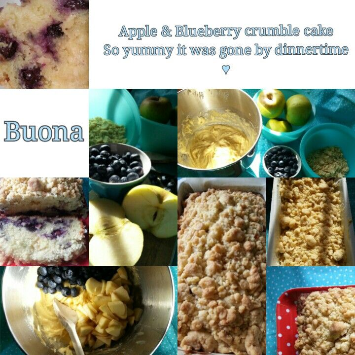 Apple and blueberry crumble ♥♥