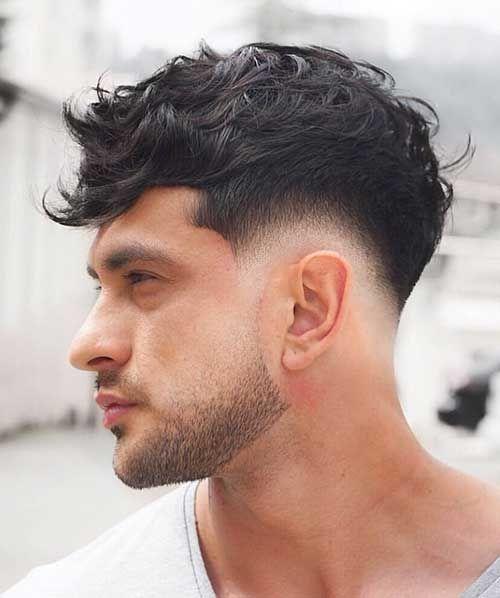 Taper Fade Curly Hair, Low Taper Fade Haircut, Drop Fade Haircut, Wavy Hair Men, Tapered Haircut, Men's Hair, Mens Taper Fade, Mens Fade Haircut, Long Hair Fade