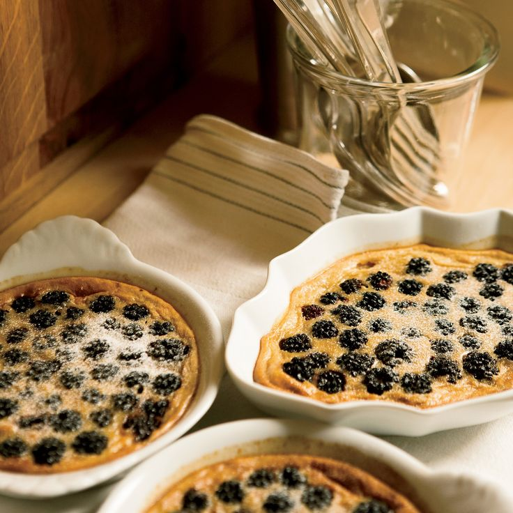 Alain Coumont makes these ethereal, citrusy custards with wild blackberries gathered from his property. Try them with blueberries, raspberries or pitt...