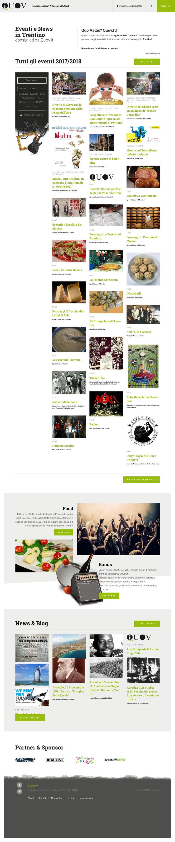 #quov www.quov.it #kumbe #webdesign #website #portfolio #news #eventi #sport #cultura #divertimento #svago #arte #love #smile #fun #bands #food #night #blog #portaleinformativo #trentino