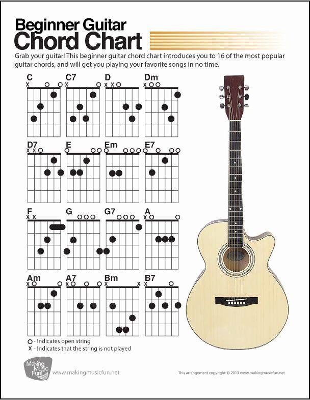 Acoustic Guitar Notes Chart Unique Best 25 Beginner Guitar Chords Ideas On Pinterest Guitar Chords Beginner Guitar Chords Guitar Chord Chart