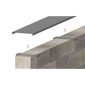 Couvertine en aluminium de 0.8 mm pour mur de 20