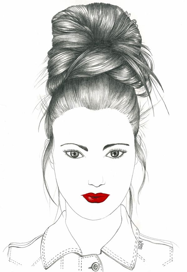Fashion Drawing Draw Hairstyles Fashion