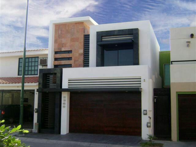 Pin by celeste tellez on casas muestra pinterest for Fachadas modernas para casas de infonavit