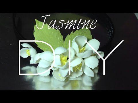 Jasmine. Foamiran. DIY . Фоамиран. Жасмин. Делаем ободок для волос - YouTube