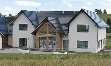 WeberHaus - Remote prefabricated property with a built-in pool, situated in rural Scotland