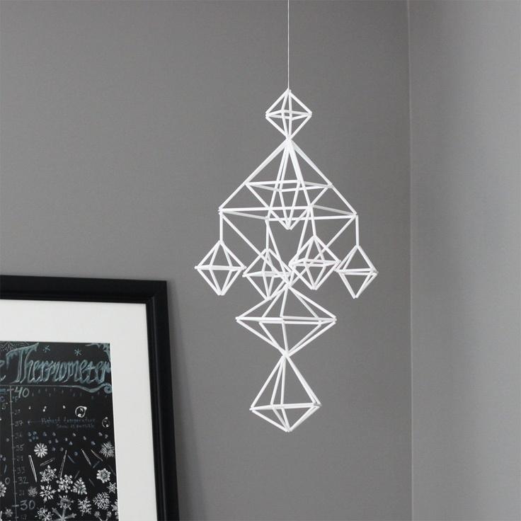 himmeli no. 6 / hanging mobile / modern geometric sculpture. $79.00, via Etsy.