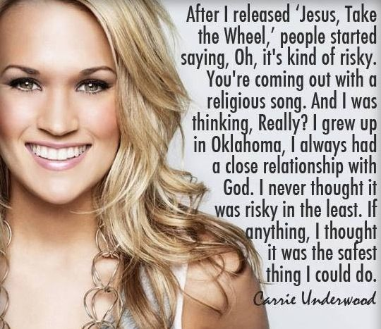 Carrie Underwood. I just absolutely love her. My favorite celebrity