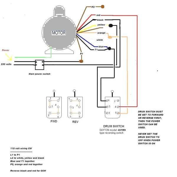 230 Volt Single Phase Motor Wiring Diagrams