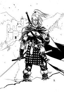 (Scottish?) Witcher in a kilt