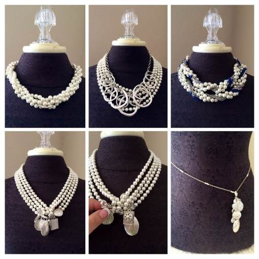 Here are just a few of the many combo's you can create with pairing the Opening Night necklace with the Round About, True Blue and the Near ...