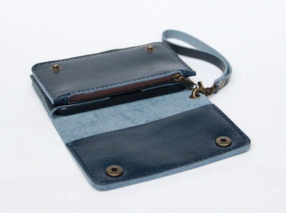 Custodia iPhone e portafoglio con cerniera mini nel di BluePetalz