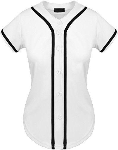 UP Womens Baseball Button Down Tee Short Sleeve Softball Jersey Active T Shirts Searching for baseball catcher's helmets photos - http://homerun.co.business/product/up-womens-baseball-button-down-tee-short-sleeve-softball-jersey-active-t-shirts/