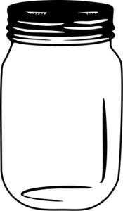 Mason Jar Printable image - vector clip art online, royalty free & public domain- Im sure I'll need this eventually