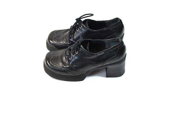 ea560d6e62491 Vintage Black Chunky Heel Shoes Black Mudd Shoes 90s Mudd 90s Grunge ...