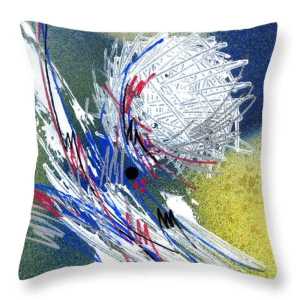 Throw Pillow featuring the painting Abstract Expression- I by Rupam Shah