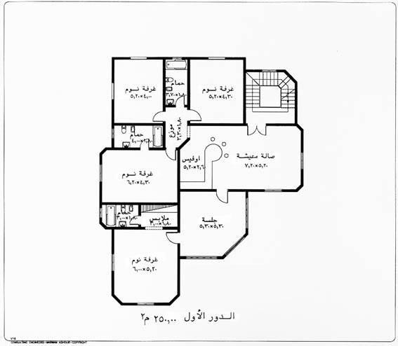 تصميم منزل دور واحد اقتصادي المرسال House Floor Design Family House Plans Classic House Design