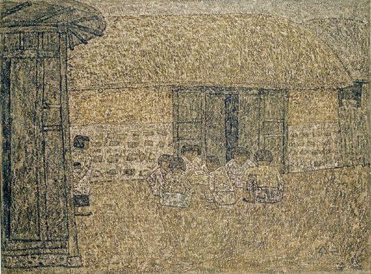 Park Soo-keun, Children on the Yard, 1963, Oil on Canvas, 96.8 x 130.2 cm, GALLERY HYUNDAI
