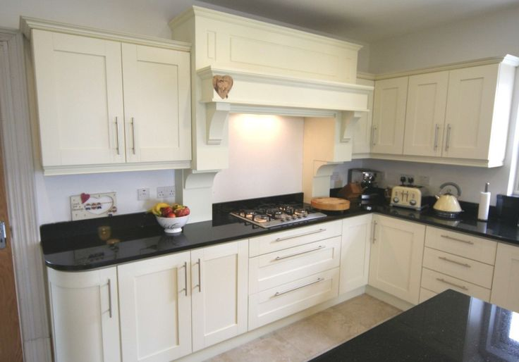 Ivory kitchen units with black worktops contemporary kitchen - White kitchen ideas that work ...