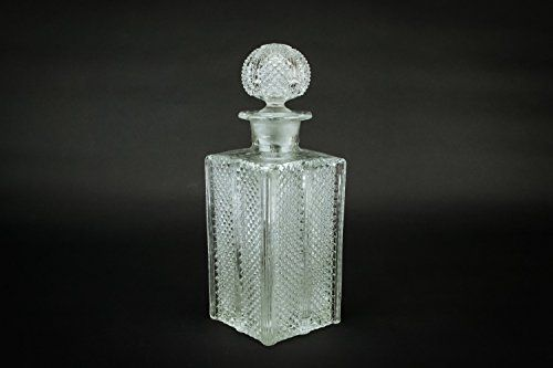 Antique Clear Water Cognac Whisky Blown Glass DECANTER Victorian Bottle Stopper CARAFE English 19th Century Old LS ** Details can be found by clicking on the image.