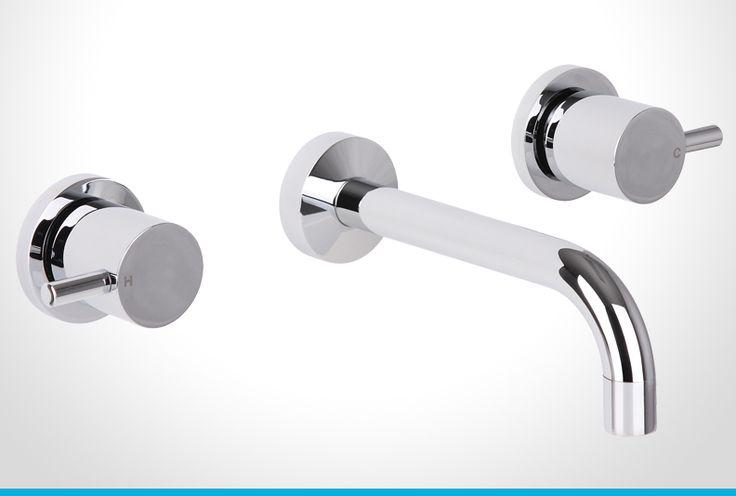 Resonance chrome pin lever bath set