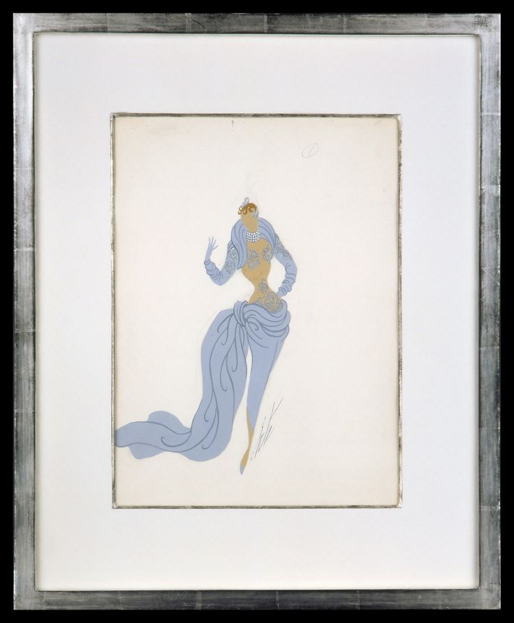 Erte Fashion Design I | Gouache and Pencil |57 x 45 cm
