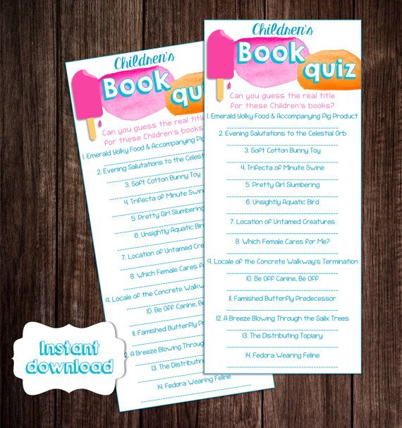 baby book title quiz printable ready to pop baby shower game story
