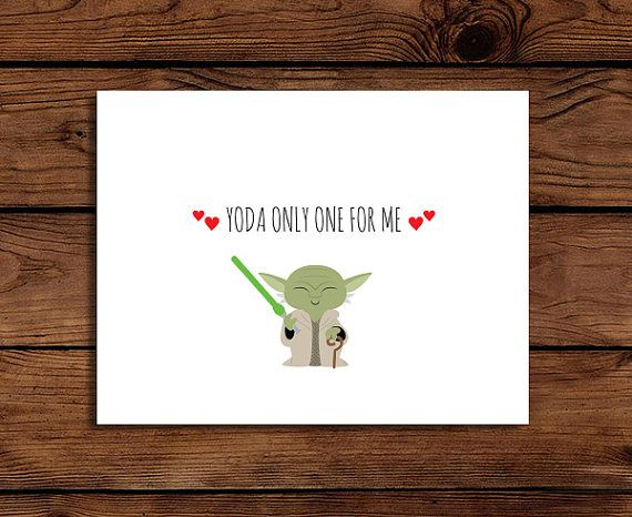 Star Wars Valentine Card Printable // Yoda only one for me, by SomebodyLovedShop, $2.00