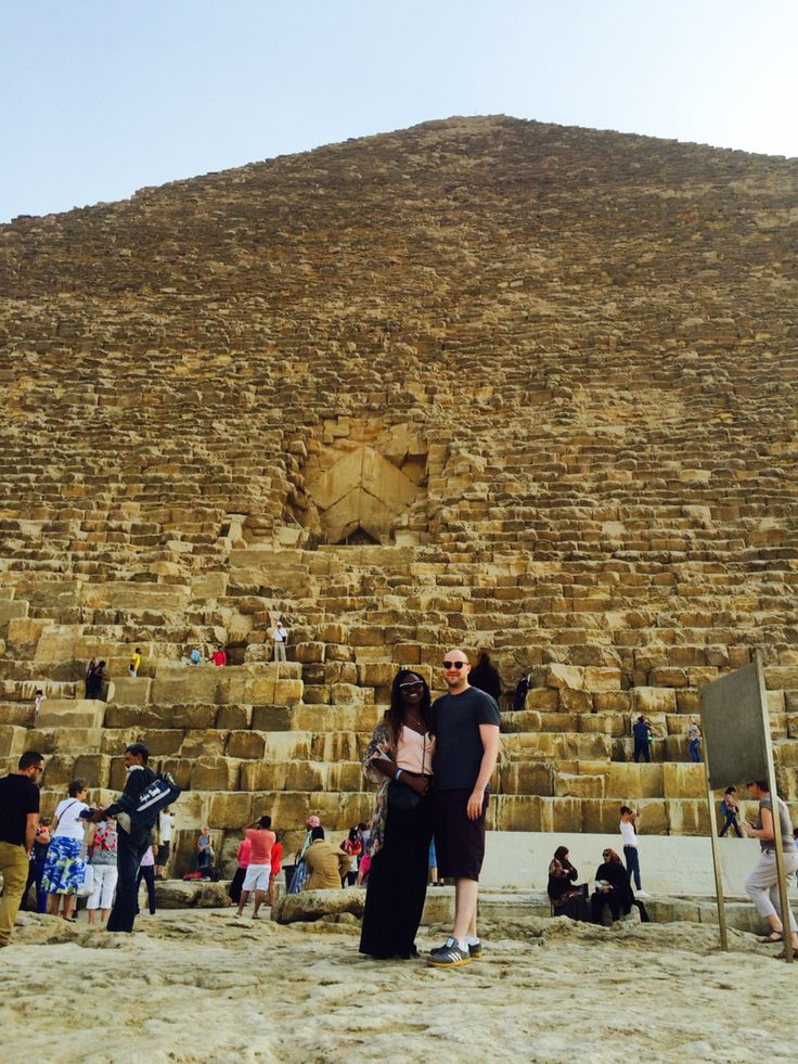 Us standing in front of one of the pyramids in Cairo. They were huge!!!