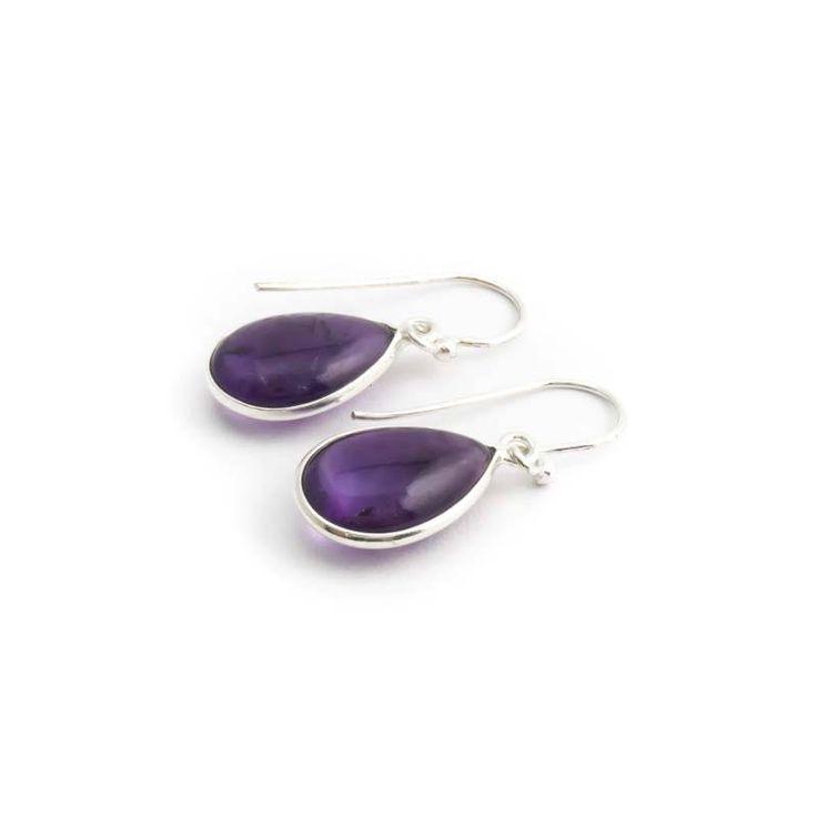 De Vogue Paarse oorbellen met amethist edelstenen in sterling zilver