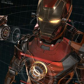 iPhone wallpaper | aq05-ironman-3d-red-game-avengers-art-illustration-hero