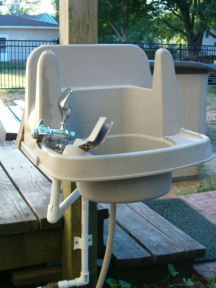Outdoor Sink Water Drinking Fountain