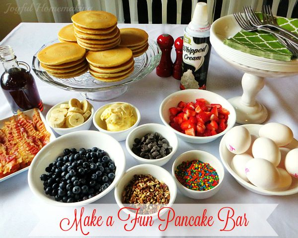 Pancake Bar - Joyful Homemaking